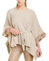 Max & Moi Wool & Cashmere-blend Poncho - Brown