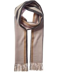 Burberry Reversible Icon Stripe Cashmere Scarf - Brown