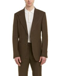 Tom Ford - Shelton 2pc Linen Suit With Flat Pant - Lyst