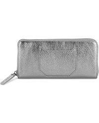 Liebeskind Berlin - Textured Leather Zip-around Wallet - Lyst