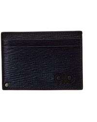 Ferragamo Leather Card Holder - Blue