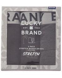 Lucky Brand 3pk Stretch Boxer Briefs - Black