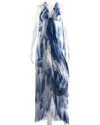Chanel - Spring 2018 Blue Silk Chiffon Dress, Size Fr 34 - Lyst