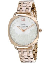 COACH Women's Tatum Slim Watch - Metallic
