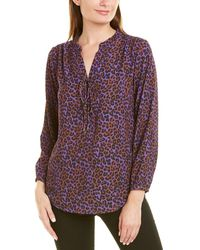 Insight Lace-up Blouse - Multicolor