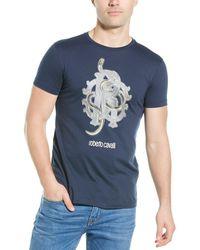 Roberto Cavalli Graphic T-shirt - Blue