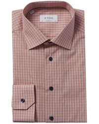 Eton of Sweden Contemporary Fit Dress Shirt - Red