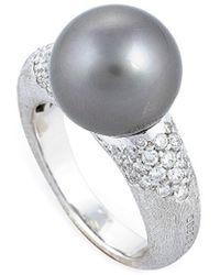 Marco Bicego 18k 0.60 Ct. Tw. Diamond & Tahitian Pearl Cocktail Ring - Metallic