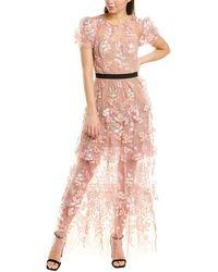 Self-Portrait Maxi Dress - Pink