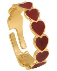 Gabi Rielle Gold Over Silver Ring - Metallic