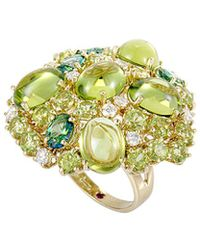 Roberto Coin - 18k 0.47 Ct. Tw. Diamond & Gemstone Ring - Lyst