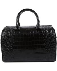 Saint Laurent Black Leather Duffle Bag, Never Carried