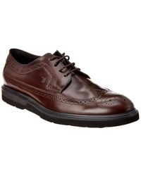 Tod's Leather Oxford - Red