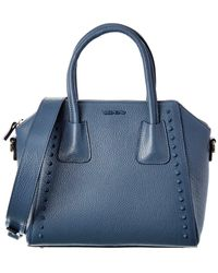 Valentino By Mario Valentino Minimi Preciosa Leather Tote - Blue
