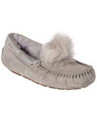 UGG Women's Dakota Pom Pom Suede Slipper - Gray