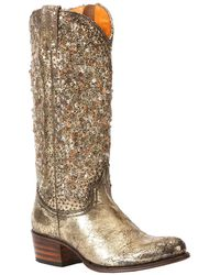 Frye - Deborah Studded Tall Leather Boot - Lyst