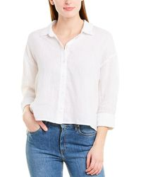 James Perse Boxy Linen Shirt - White