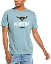 Red Jacket Martini Archive Cocktail T-shirt - Blue