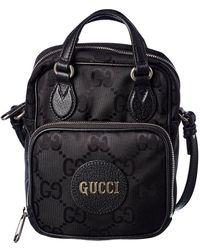 Gucci Off The Grid Canvas Shoulder Bag - Black