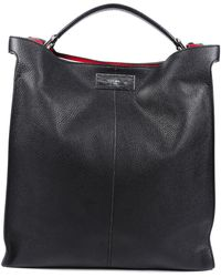 Fendi Roman Leather Peekaboo X-lite Fit Satchel - Black