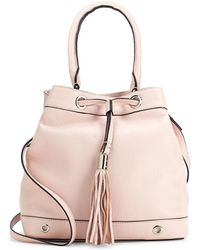 MILLY - Astor Drawstring Leather Backpack - Lyst