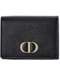 Dior Leather Coin Wallet - Black