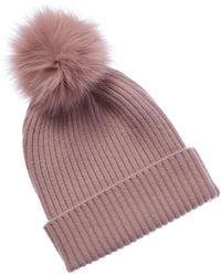 Sofia Cashmere - Knit Cashmere Hat - Lyst