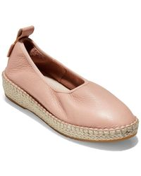 Cole Haan Cloudfeel Leather Espadrille - Pink