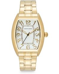 Saks Fifth Avenue Stainless Steel Oval Dial Watch/gold White - Metallic
