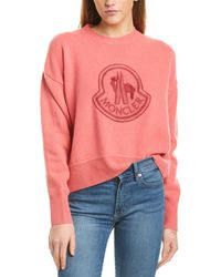 Moncler Oversized Wool & Cashmere-blend Sweater - Pink