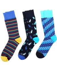 Unsimply Stitched - Assorted Intarsia Socks (3 Pk) - Lyst