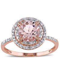 Rina Limor 10k Rose Gold 0.09 Ct. Tw. Diamond Ring - Metallic