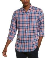 J.McLaughlin Gramercy Linen Sport Shirt - Pink