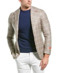 Isaia Silk & Cashmere-blend Sportcoat - Multicolour