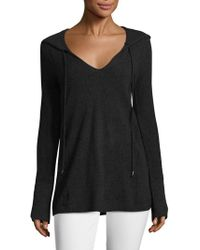 In Cashmere - Drawstring Cashmere Hoodie - Lyst
