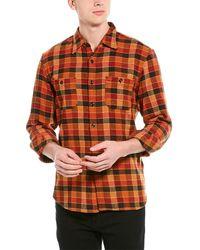 J.Crew Checked Cotton-flannel Shirt - Orange