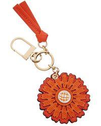 Tory Burch Foundation Sunflower Key Fob | 405 | Key Fobs - Red
