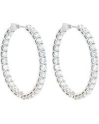 Diana M. Jewels . Fine Jewellery 18k 11.00 Ct. Tw. Diamond Hoops - Multicolour