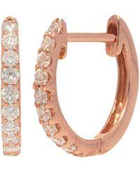 Nephora 14k Rose Gold 0.18 Ct. Tw. Diamond Huggie Earrings - Pink