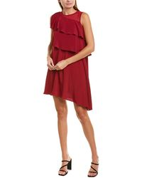 Marella Silk-blend A-line Dress - Red