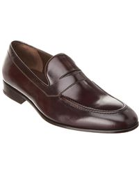 Ferragamo Flint Leather Loafer - Brown