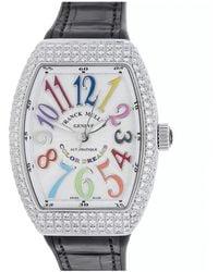 Franck Muller Franck Muller Unisex Leather Diamond Watch - Multicolour