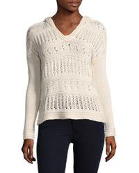 27milesmalibu Sweater Hoodie - White