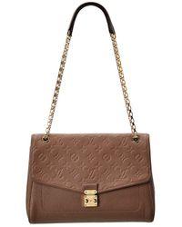 Louis Vuitton Taupe Monogram Empreinte Leather St. Germain Mm - Brown