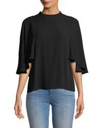 BCBGMAXAZRIA Ruthie Flutter Sleeve T-shirt - Black