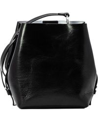 Rebecca Minkoff Kate Medium Convertible Leather Bucket Bag - Black