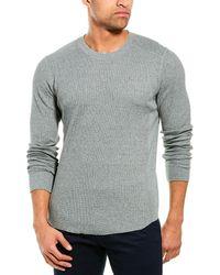 Vince Waffle-knit Shirt - Blue