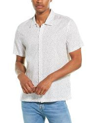 7 For All Mankind 7 For All Mankind Triangle Woven Shirt - White