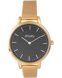 Simplify Unisex The 5800 Watch - Metallic