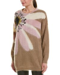 Valentino Floral Intarsia Mohair & Wool-blend Jumper - Pink